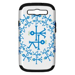 Blue Birds And Olive Branch Circle Icon Samsung Galaxy S Iii Hardshell Case (pc+silicone) by thisisnotme