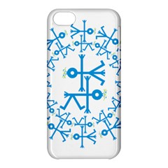 Blue Birds And Olive Branch Circle Icon Apple Iphone 5c Hardshell Case by thisisnotme