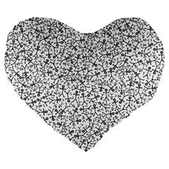 Crowd Icon Random Large 19  Premium Heart Shape Cushions by thisisnotme