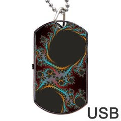 Dream In Fract Dog Tag Usb Flash (two Sides)  by theunrulyartist