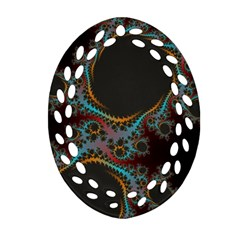 Dream In Fract Oval Filigree Ornament (2 Side)  by theunrulyartist