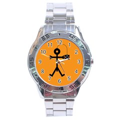 Video Gaming Icon Stainless Steel Men s Watch by thisisnotme