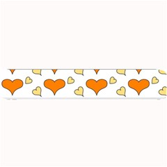 Hearts Orange Small Bar Mats