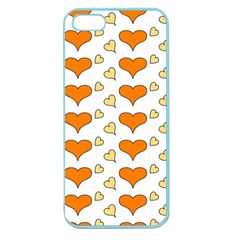 Hearts Orange Apple Seamless Iphone 5 Case (color) by MoreColorsinLife