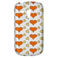 Hearts Orange Samsung Galaxy S3 Mini I8190 Hardshell Case by MoreColorsinLife