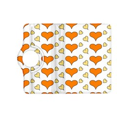 Hearts Orange Kindle Fire Hd (2013) Flip 360 Case by MoreColorsinLife