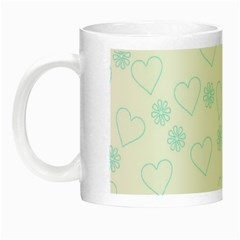 Flowers And Hearts Night Luminous Mugs by MoreColorsinLife