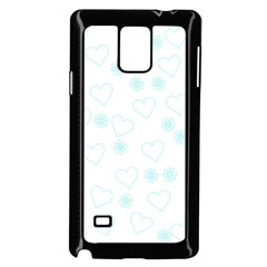 Flowers And Hearts Samsung Galaxy Note 4 Case (Black) by MoreColorsinLife