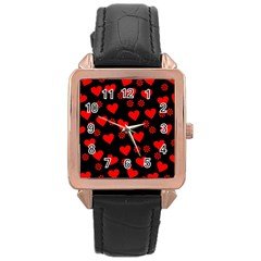 Flowers And Hearts Rose Gold Watches by MoreColorsinLife