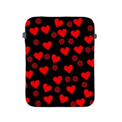 Flowers And Hearts Apple iPad 2/3/4 Protective Soft Cases by MoreColorsinLife