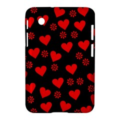 Flowers And Hearts Samsung Galaxy Tab 2 (7 ) P3100 Hardshell Case  by MoreColorsinLife
