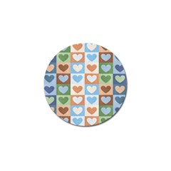 Hearts Plaid Golf Ball Marker by MoreColorsinLife