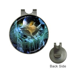 Funny Dolphin In The Universe Hat Clips With Golf Markers by FantasyWorld7
