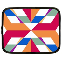 Shapes In Triangles Netbook Case (large) by LalyLauraFLM
