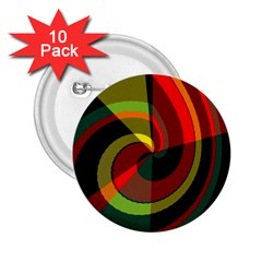 Spiral 2 25  Button (10 Pack) by LalyLauraFLM