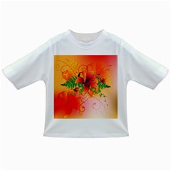 Awesome Red Flowers With Leaves Infant/toddler T Shirts by FantasyWorld7
