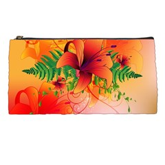 Awesome Red Flowers With Leaves Pencil Cases by FantasyWorld7