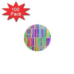 Colorful Vintage Stripes 1  Mini Magnet (100 Pack)