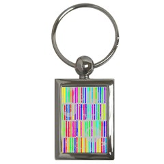 Colorful Vintage Stripes Key Chain (rectangle) by LalyLauraFLM