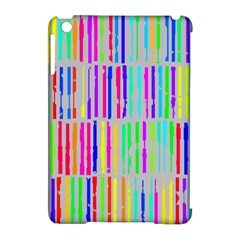Colorful Vintage Stripes Apple Ipad Mini Hardshell Case (compatible With Smart Cover) by LalyLauraFLM