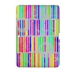 Colorful Vintage Stripes Samsung Galaxy Tab 2 (10 1 ) P5100 Hardshell Case  by LalyLauraFLM