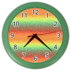 Gradient Chaos Color Wall Clock by LalyLauraFLM