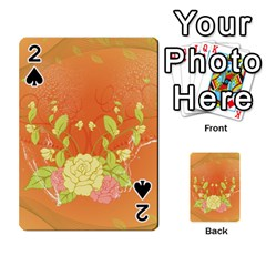 Beautiful Flowers In Soft Colors Playing Cards 54 Designs