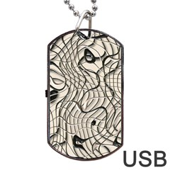 Ribbon Chaos 2  Dog Tag Usb Flash (one Side) by ImpressiveMoments