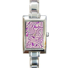 Ribbon Chaos 2 Lilac Rectangle Italian Charm Watches by ImpressiveMoments
