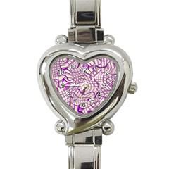 Ribbon Chaos 2 Lilac Heart Italian Charm Watch by ImpressiveMoments