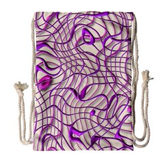 Ribbon Chaos 2 Lilac Drawstring Bag (large) by ImpressiveMoments