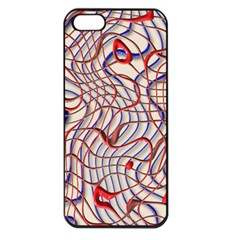 Ribbon Chaos 2 Red Blue Apple Iphone 5 Seamless Case (black) by ImpressiveMoments