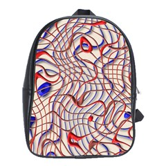 Ribbon Chaos 2 Red Blue School Bags (xl)  by ImpressiveMoments