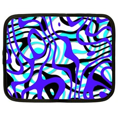 Ribbon Chaos Ocean Netbook Case (large) by ImpressiveMoments