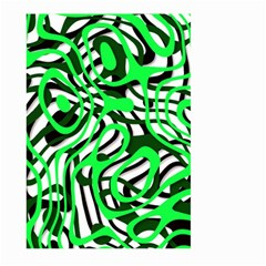 Ribbon Chaos Green Large Garden Flag (Two Sides) by ImpressiveMoments