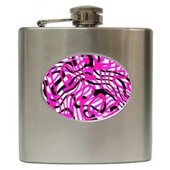 Ribbon Chaos Pink Hip Flask (6 oz) by ImpressiveMoments