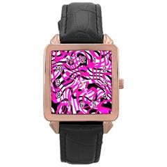 Ribbon Chaos Pink Rose Gold Watches