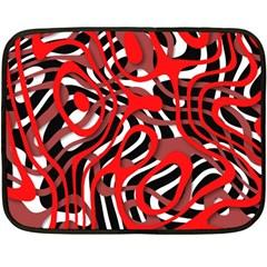 Ribbon Chaos Red Fleece Blanket (Mini) by ImpressiveMoments