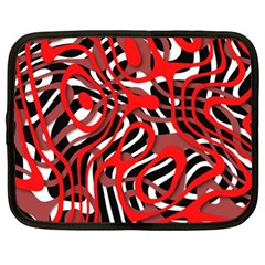 Ribbon Chaos Red Netbook Case (xl)  by ImpressiveMoments