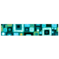 Teal Squares Flano Scarf (small)  by KirstenStar