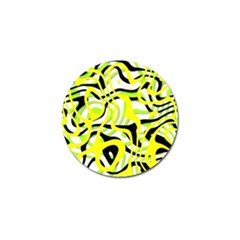 Ribbon Chaos Yellow Golf Ball Marker by ImpressiveMoments