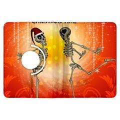 Dancing For Christmas, Funny Skeletons Kindle Fire Hdx Flip 360 Case by FantasyWorld7