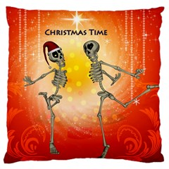 Dancing For Christmas, Funny Skeletons Standard Flano Cushion Cases (two Sides)  by FantasyWorld7