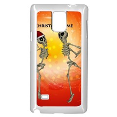 Dancing For Christmas, Funny Skeletons Samsung Galaxy Note 4 Case (white) by FantasyWorld7