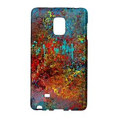 Abstract In Red, Turquoise, And Yellow Galaxy Note Edge by theunrulyartist