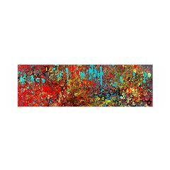 Abstract In Red, Turquoise, And Yellow Satin Scarf (oblong) by theunrulyartist