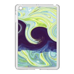 Abstract Ocean Waves Apple Ipad Mini Case (white) by theunrulyartist