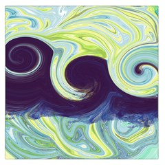 Abstract Ocean Waves Large Satin Scarf (square)