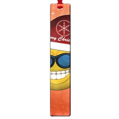 Funny Christmas Smiley With Sunglasses Large Book Marks by FantasyWorld7