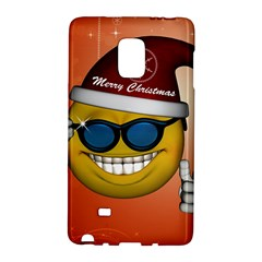 Funny Christmas Smiley With Sunglasses Galaxy Note Edge by FantasyWorld7